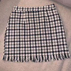 Brand New Black & White Plaid Mini Skirt Size M
